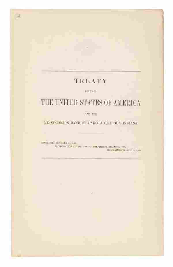 Treaty between US and Minneconjon Band (Sioux)