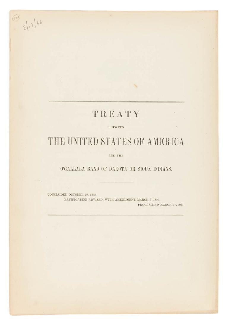 Treaty between US and the O'Gallala Band