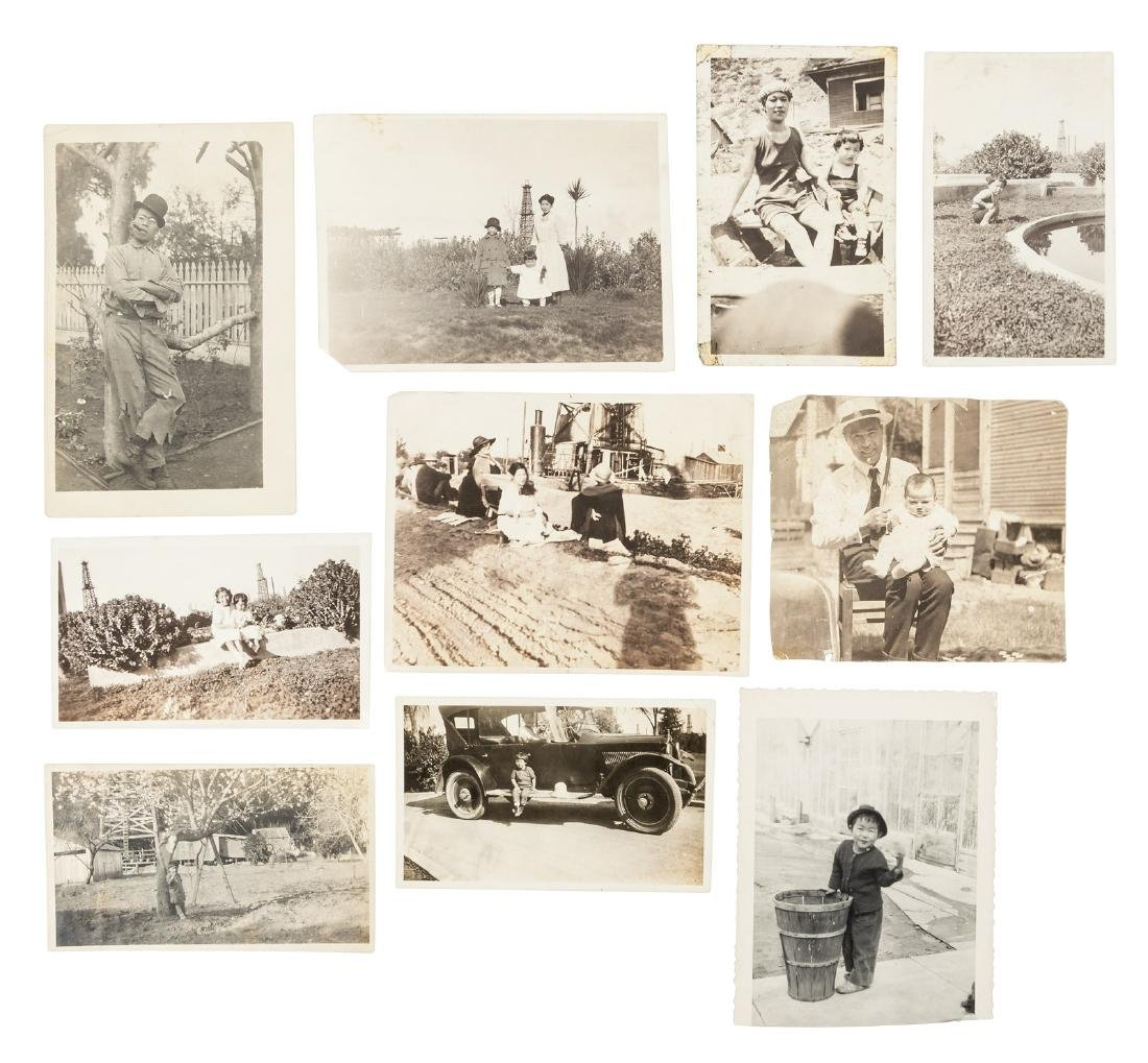 Photograph collection of Japanese-American family in