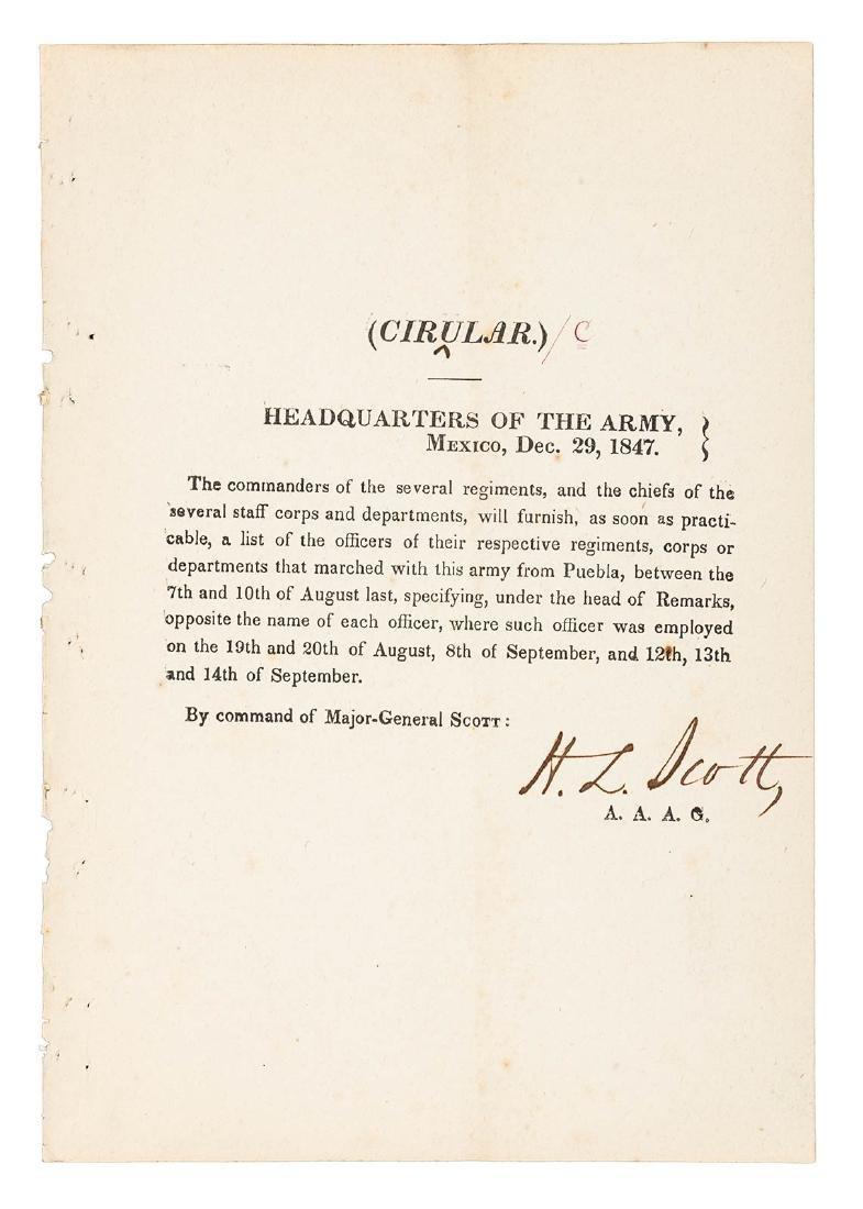 24 Mexican War General Orders Broadsides - 10