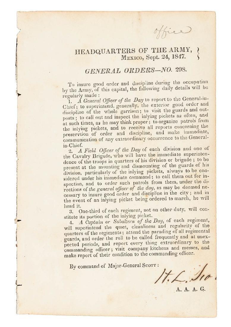 24 Mexican War General Orders Broadsides