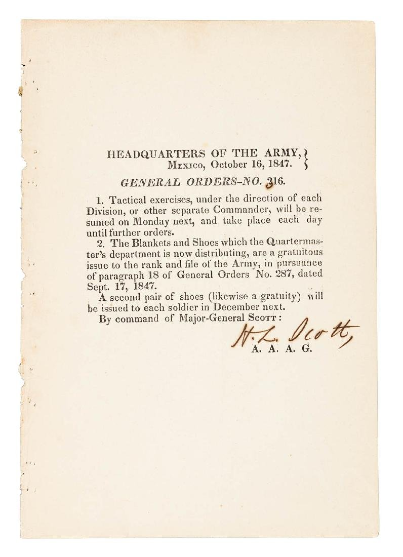 24 Mexican War General Orders Broadsides - 2