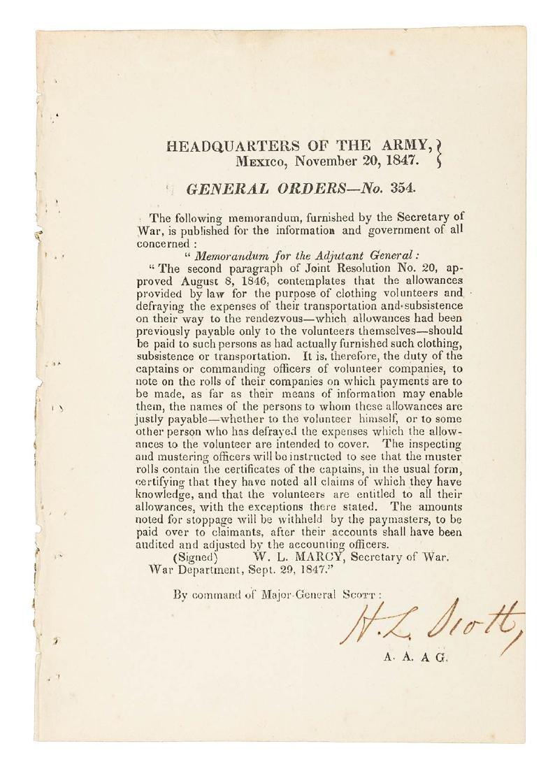 24 Mexican War General Orders Broadsides - 3