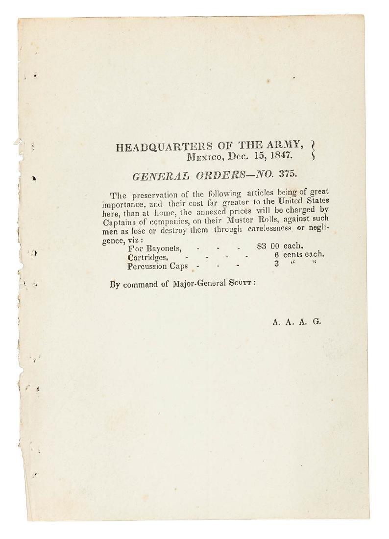 24 Mexican War General Orders Broadsides - 4