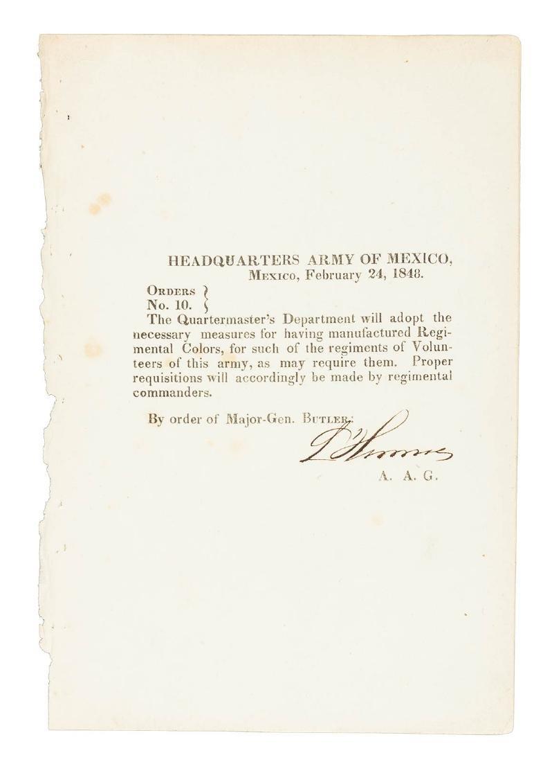 24 Mexican War General Orders Broadsides - 6