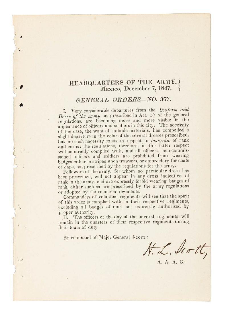 24 Mexican War General Orders Broadsides - 9