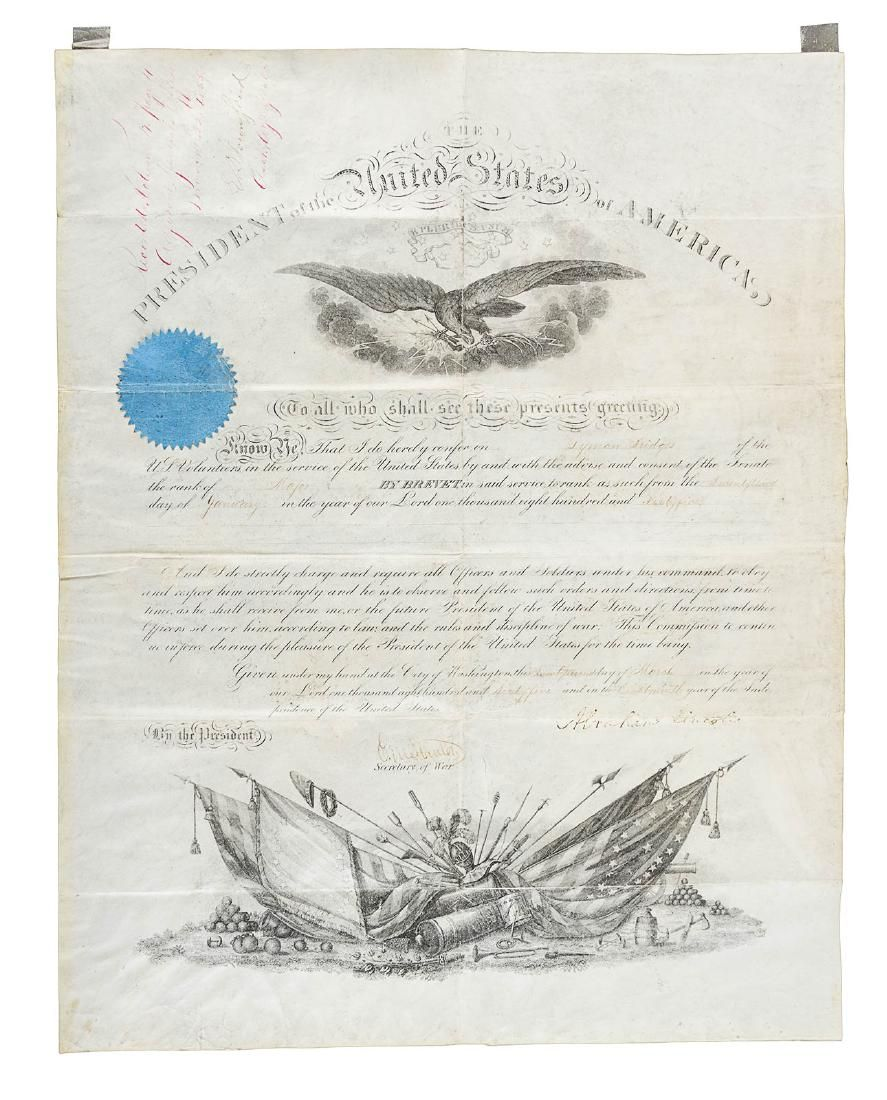 Appointment signed by President Abraham Lincoln
