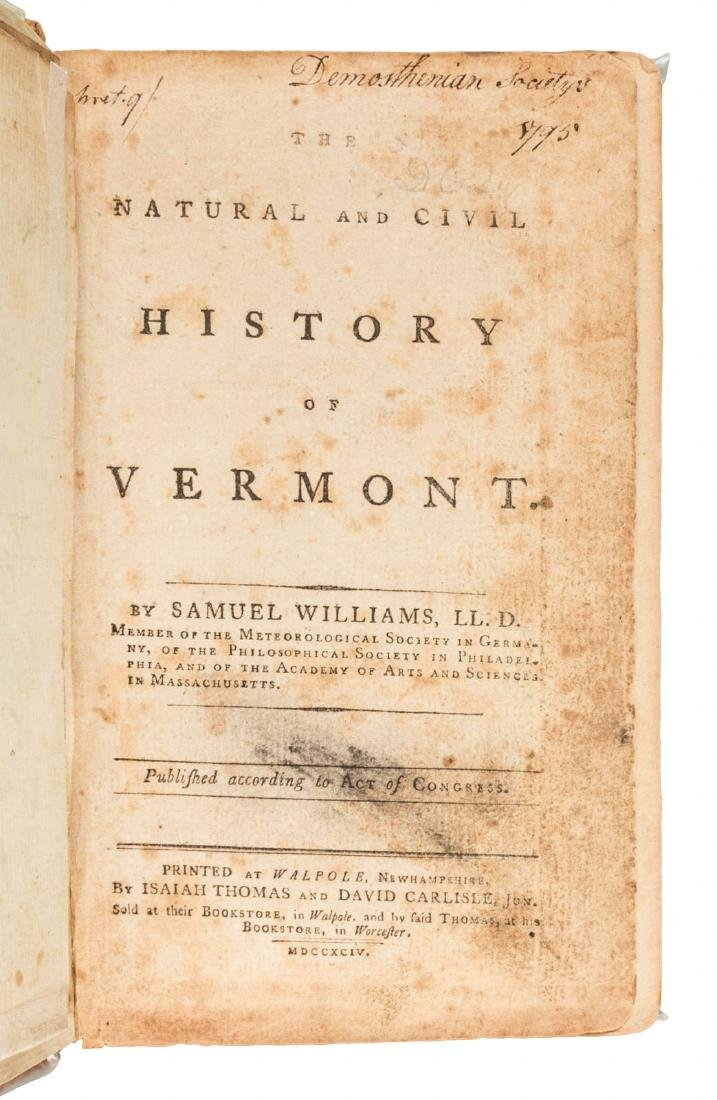 The Natural and Civil History of Vermont, 1794