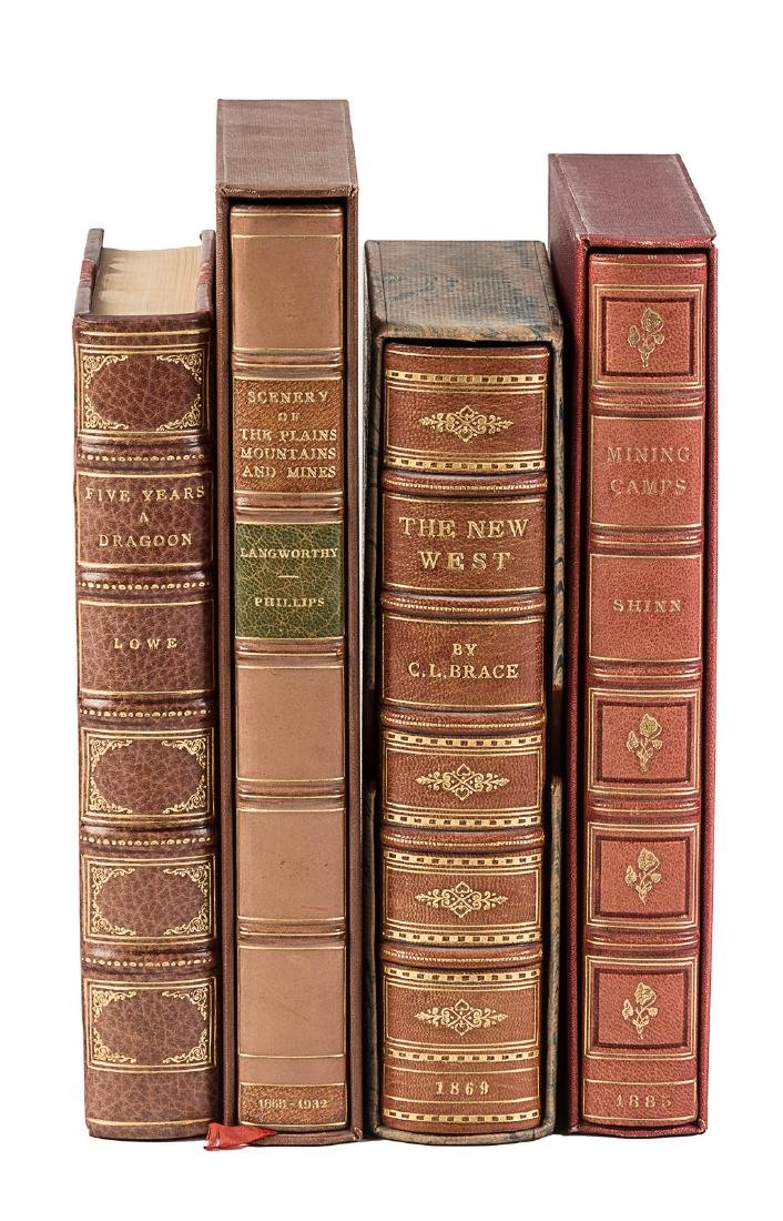 Four finely bound works of Western Americana