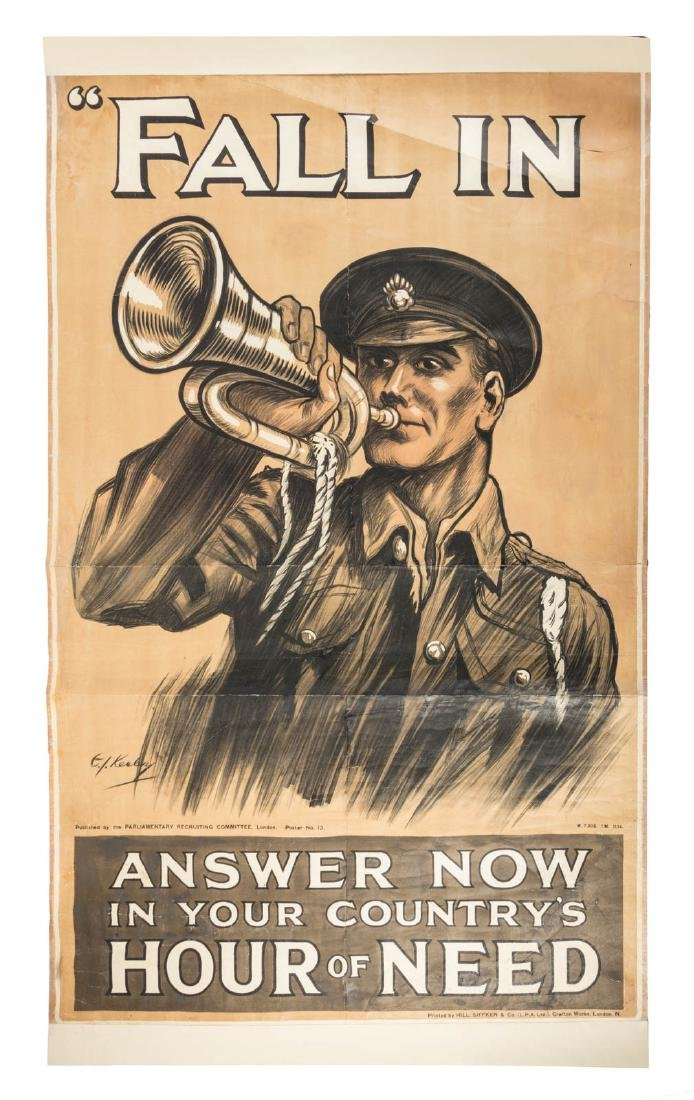 Large WWI recruiting poster