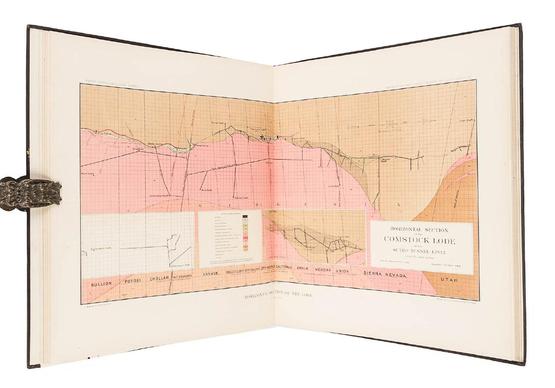Becker's Atlas of the Comstock Lode 1882 - 3