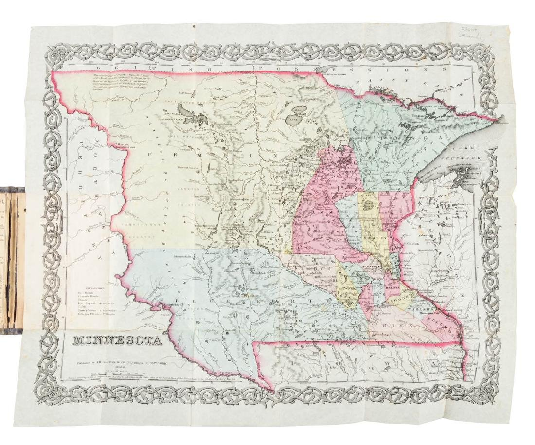 Early pocket map of Minnesota