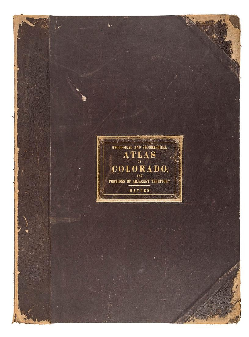 Hayden Folio Atlas of Colorado 1877 - 2