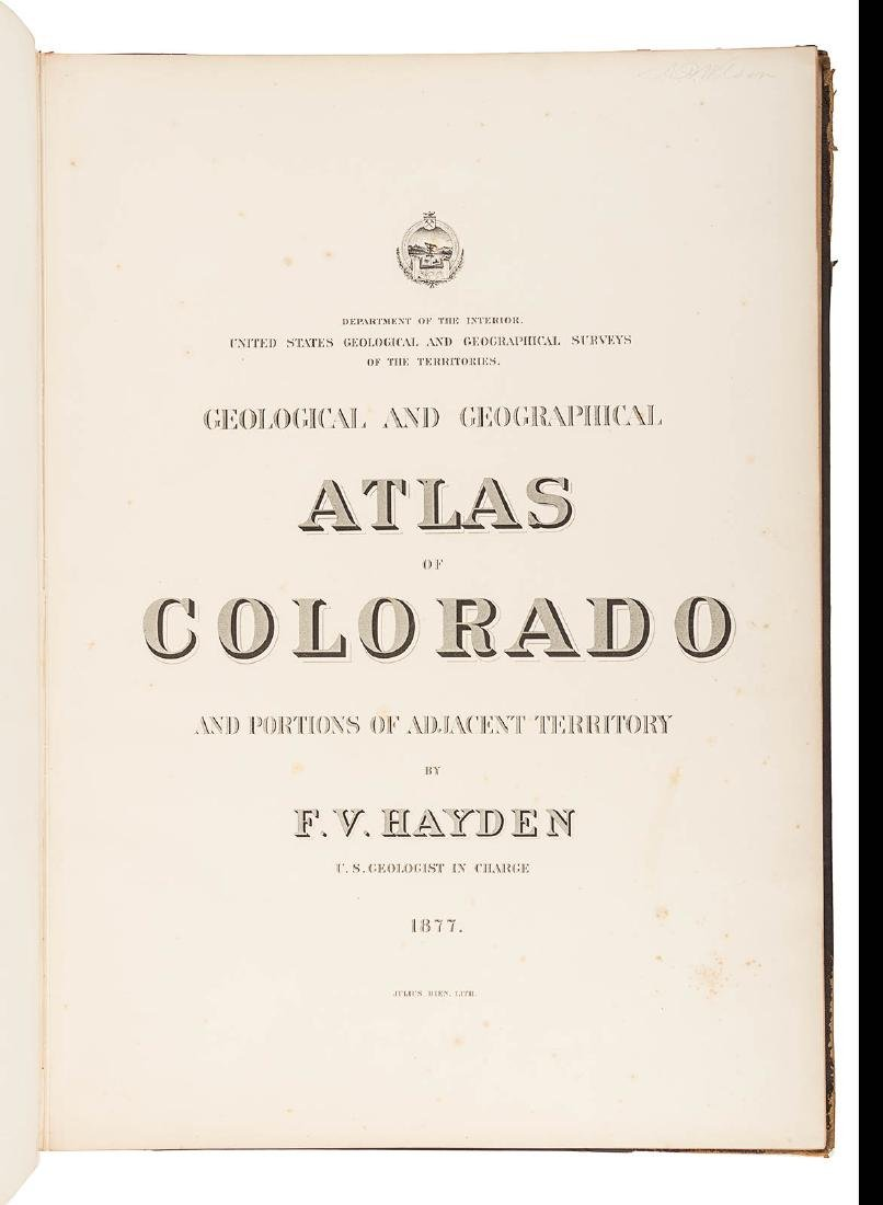 Hayden Folio Atlas of Colorado 1877 - 3