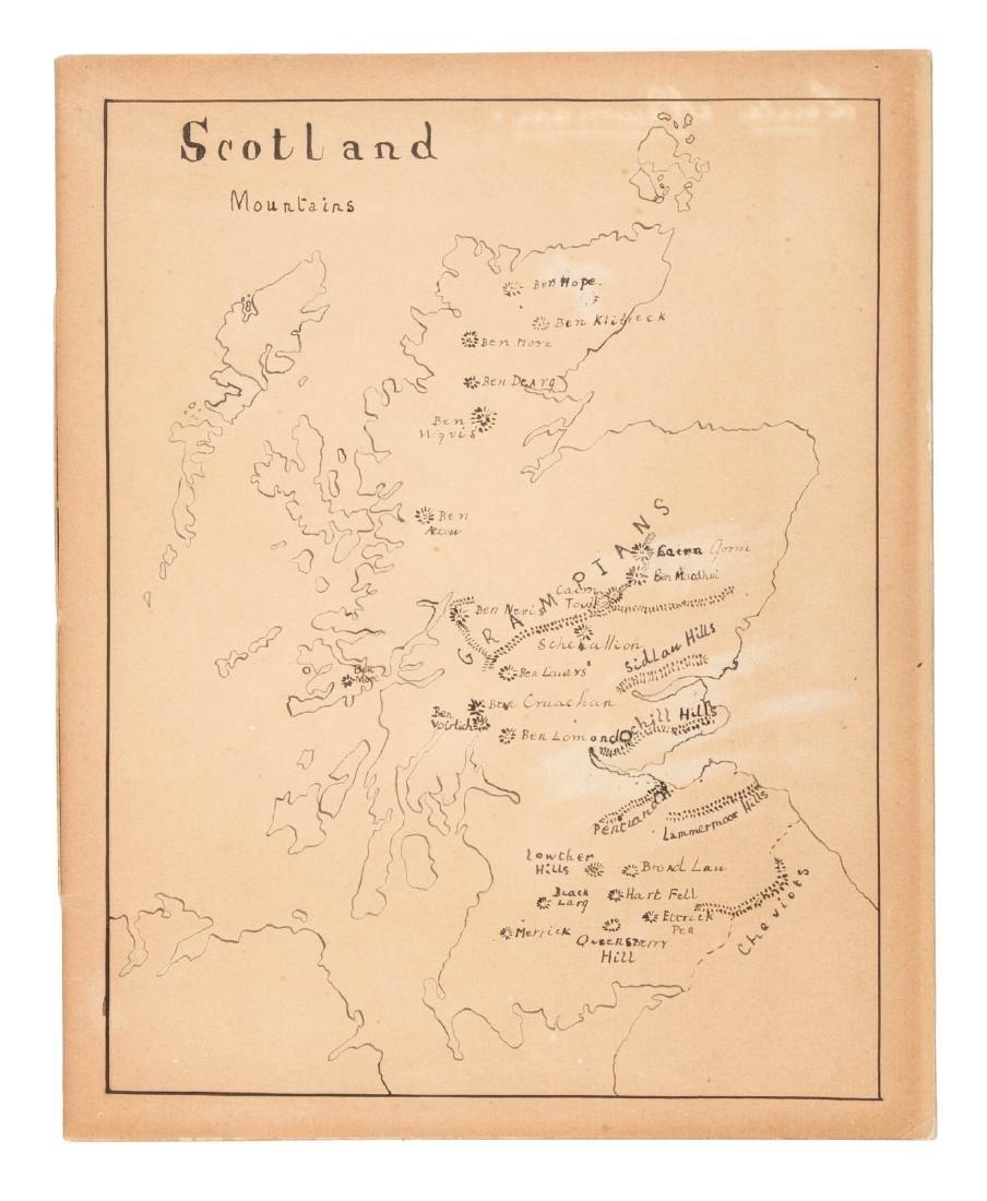19th century manuscript atlas