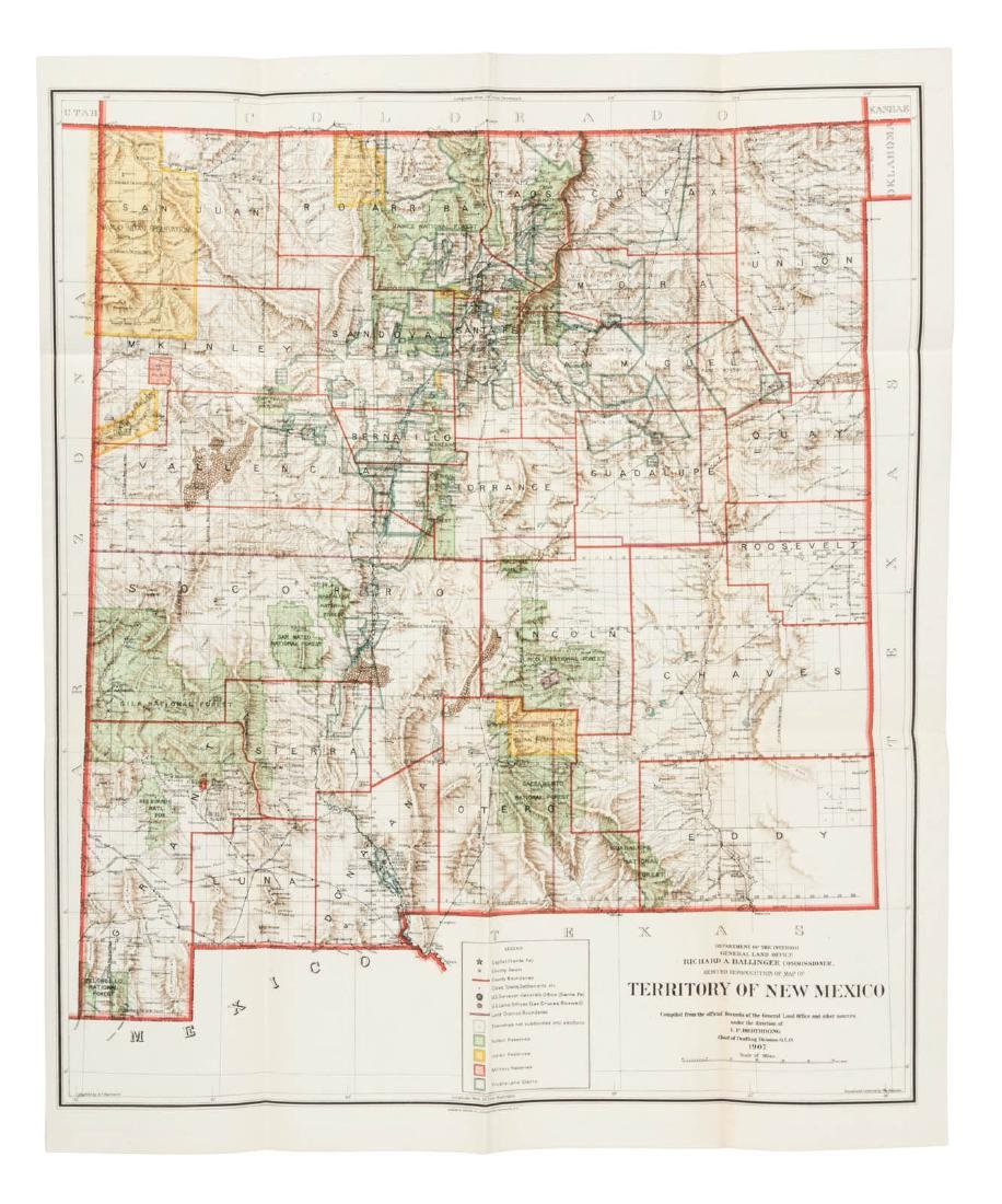 General Land Office map of New Mexico 1907