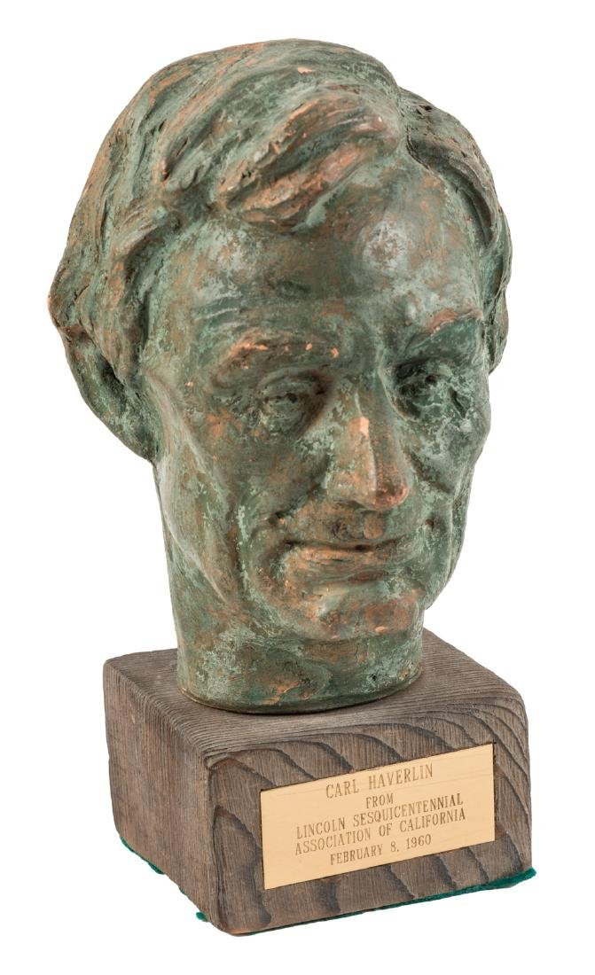 Bust of Abraham Lincoln by Robert Merrell Gage.