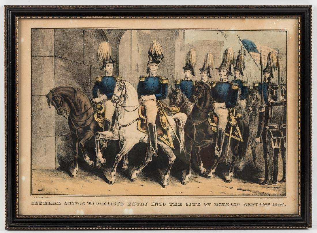 Currier lithograph of General Scotts Entry into Mexico