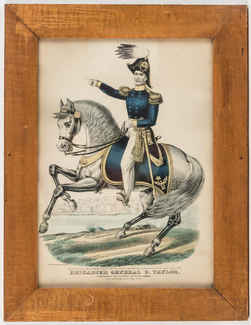 Brigadier General Zachary Taylor colored print