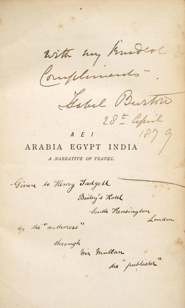 2009: A E I Arabia Egypt India: A Narrative of Travel