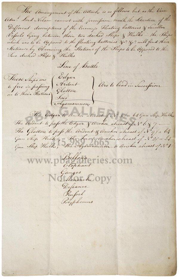 2142: Manuscript Order of Battle and Arrangement of Att