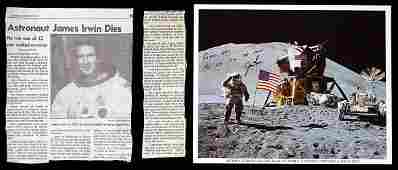 2182 Large group of signed photos of Apollo Astronauts