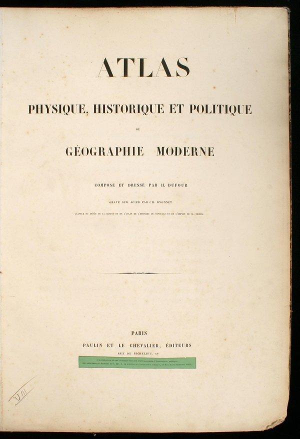 2372: Atlas Physique, Historique et Politique de Géogra
