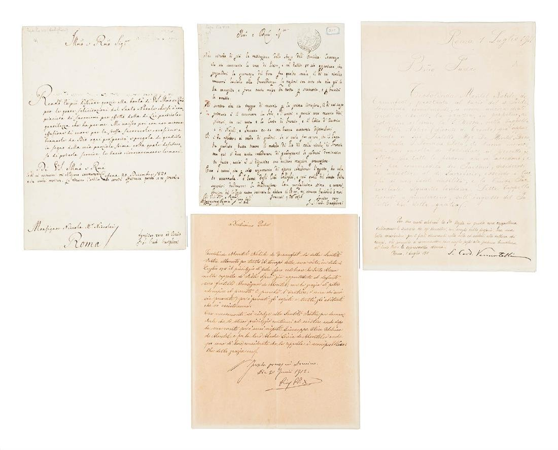 Four signed by popes or future popes - 6