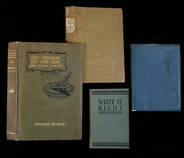 10: Lot of 4 books by Ambrose Bierce literature