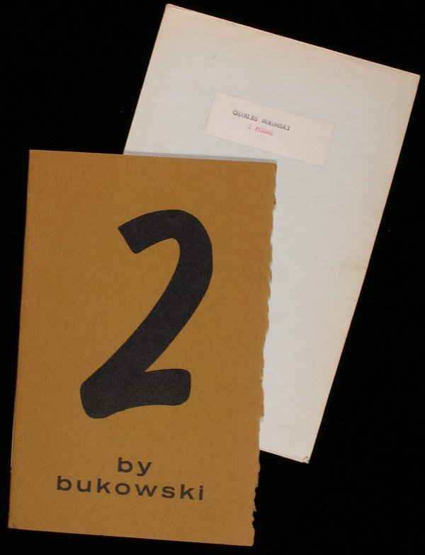 20: Bukowski, Charles 2 Poems signed book first