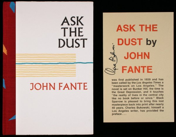 23: Fante Bukowski Ask the Dust signed limited book