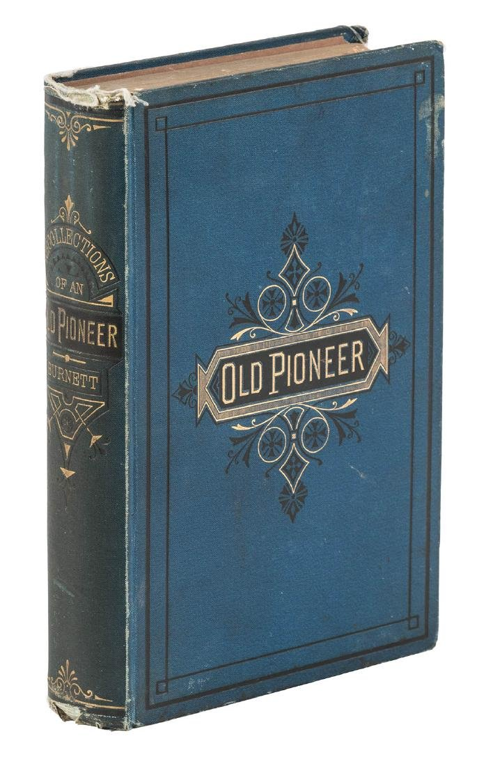 Peter Burnett Recollections of an Old Pioneer