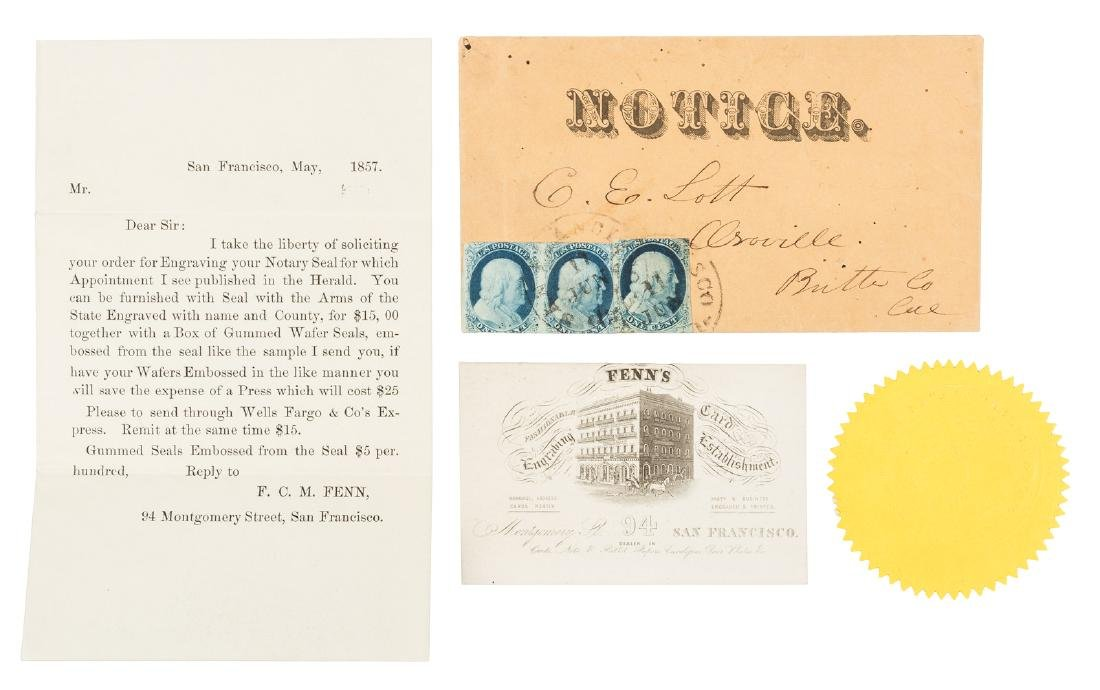 1857 Solicitation from San Francisco seal engraver