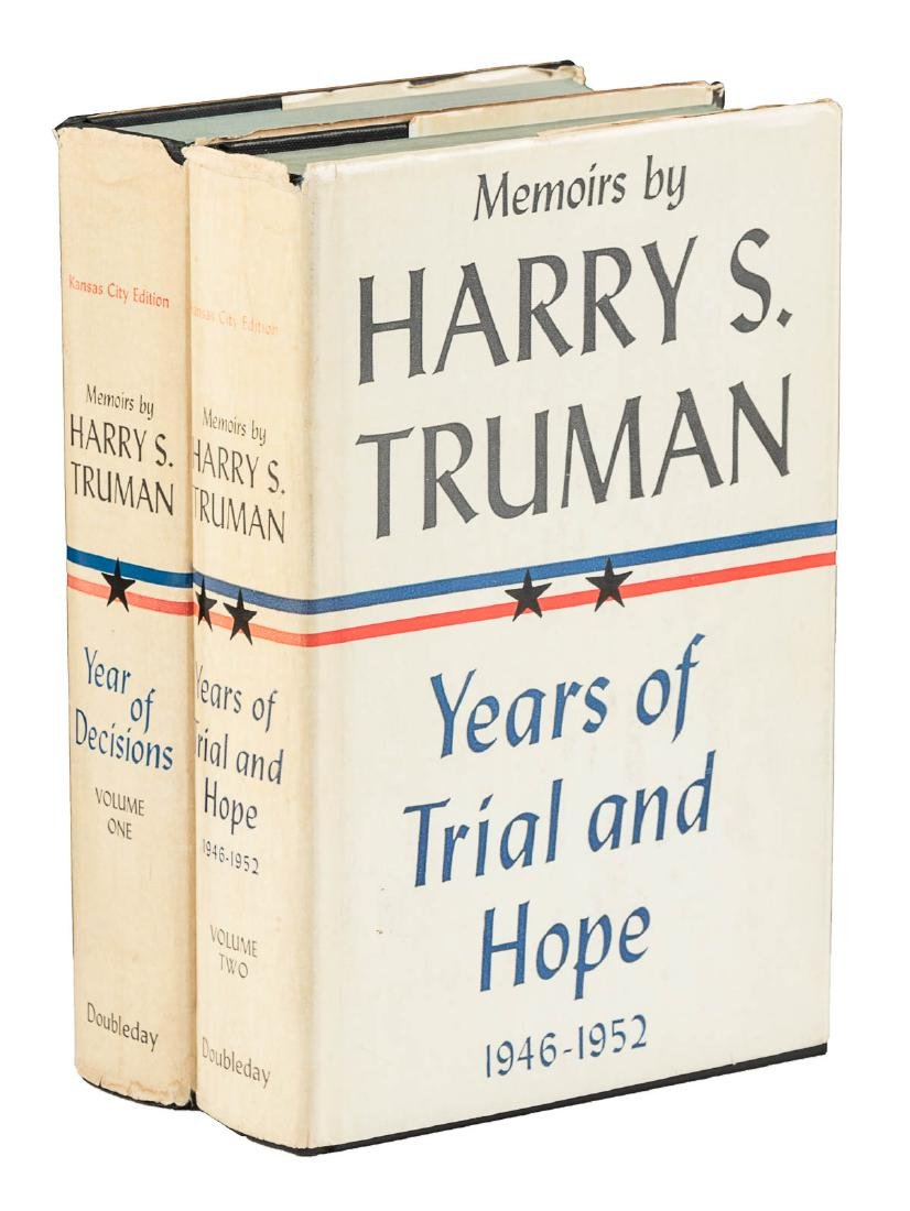 Memoirs by Harry S. Truman, inscribed