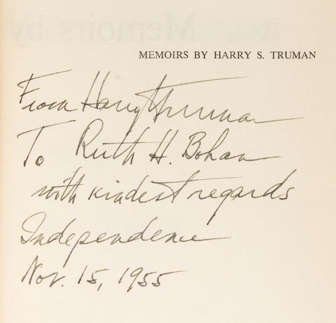 Memoirs by Harry S. Truman, inscribed - 3