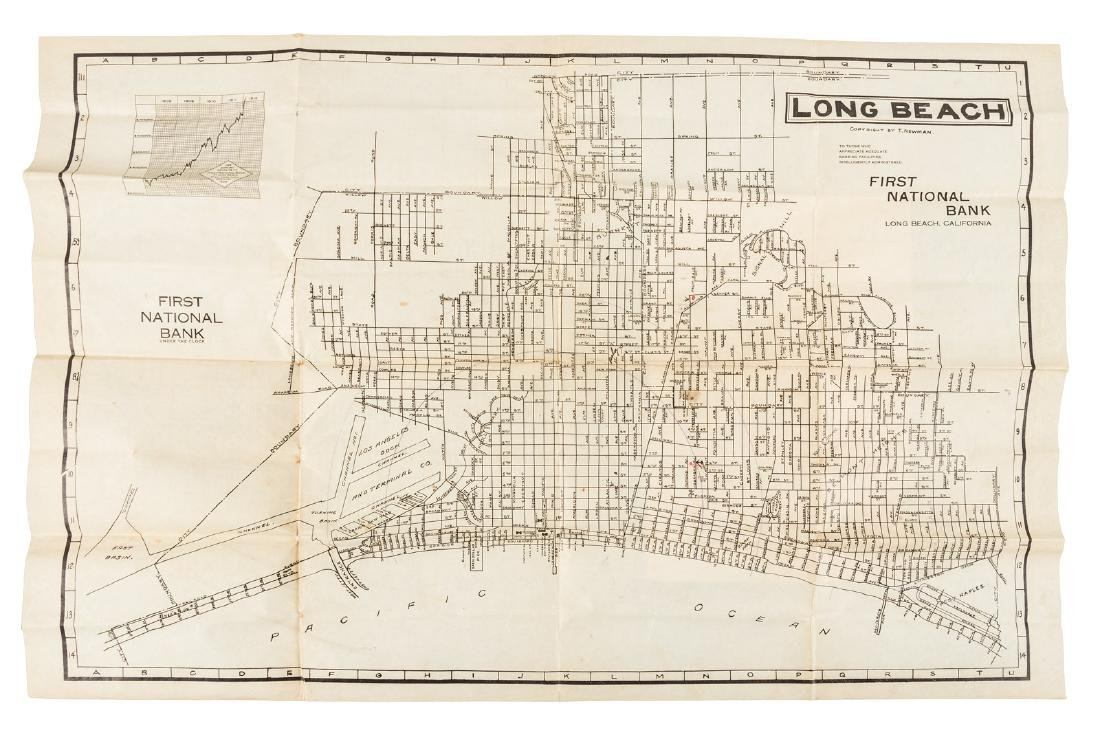 Newman California Map.Long Beach City Map 1912