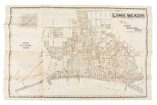 Newman California Map.Long Beach City Map 1912