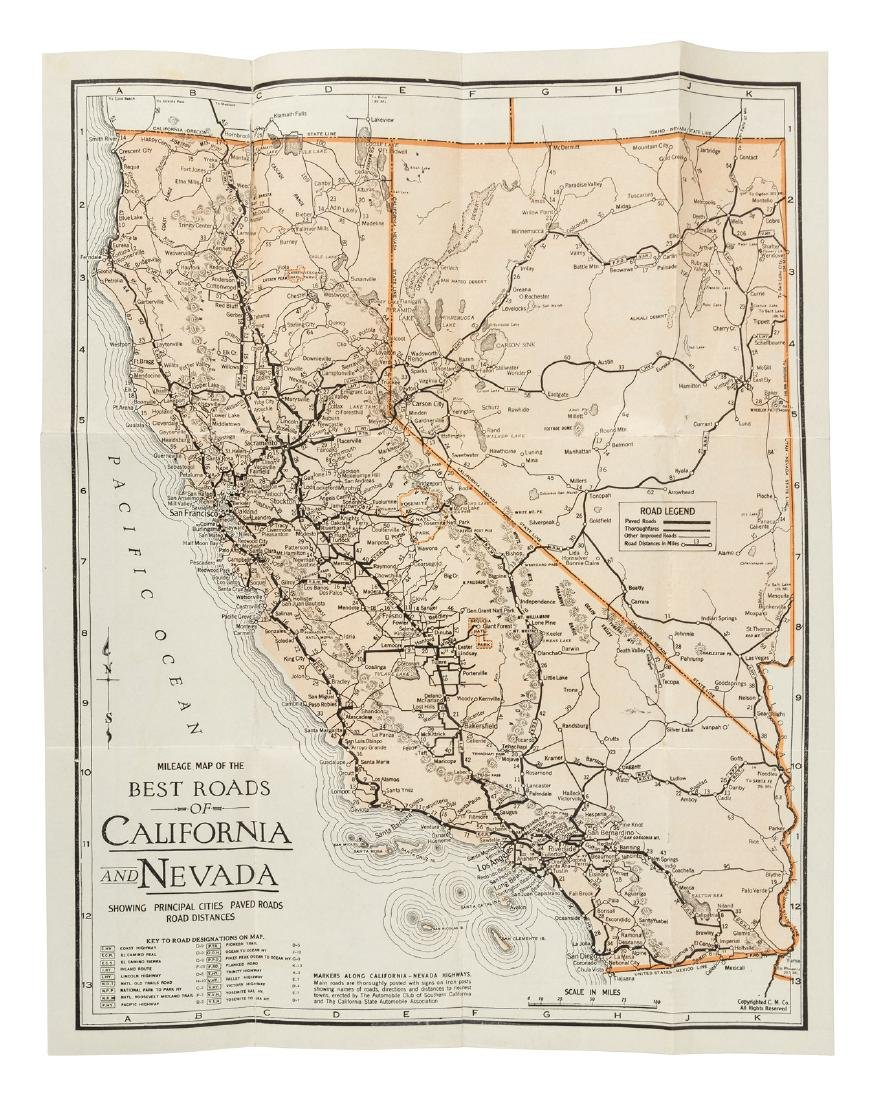 Mileage Map of California and Nevada - Oct 04, 2018 | PBA Galleries on nevada on us map, nevada map with capital, nevada road map, nevada river map, nevada physical geography map, las vegas with key, nevada outlines with label,