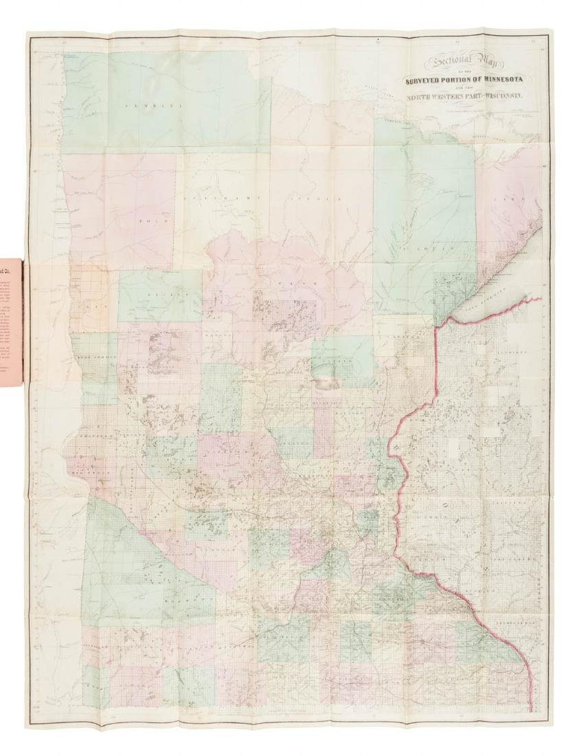 Rare early map of Minnesota