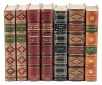 Five finely bound books