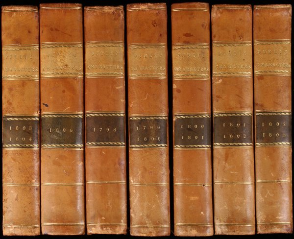 1003: Public Characters of 1798-1805 - 7 Volumes