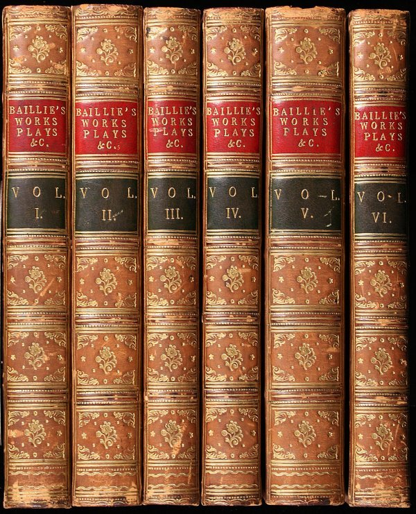1005: 6 volumes of Works and Plays by Joanna Baillie