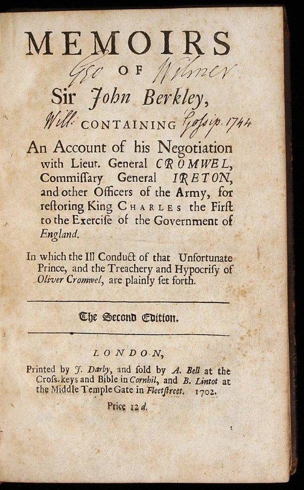 1010: Memoirs of Sir John Berkley