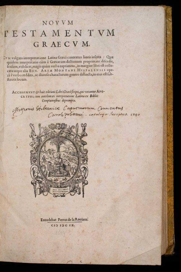 1013: 1609 Bible in Hebrew, Latin & Greek