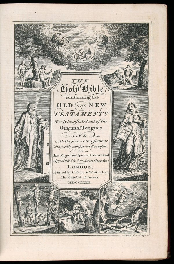 1018: 1772 London Bible - Full Leather