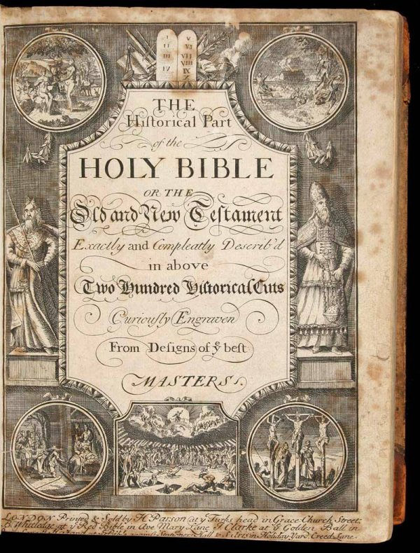 1019: 1726 Bible with plates