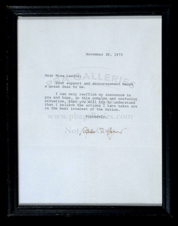 2003: Spiro T. Agnew - Typed Letter, signed 1973
