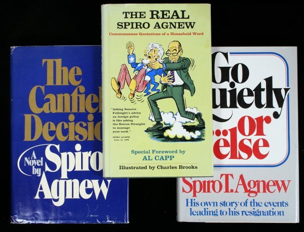 2004: 3 books by or about Spiro T. Agnew - Inscribed