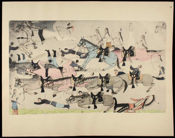 2009: Sioux Indian Painting 1938 1 of 400 copies