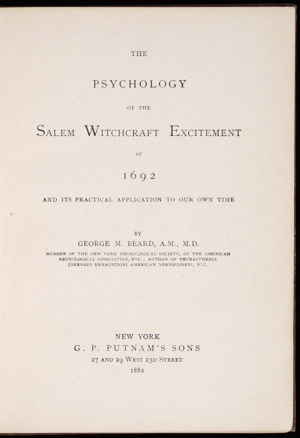 2022: Psychology of the Salem Witchcraft Excitement